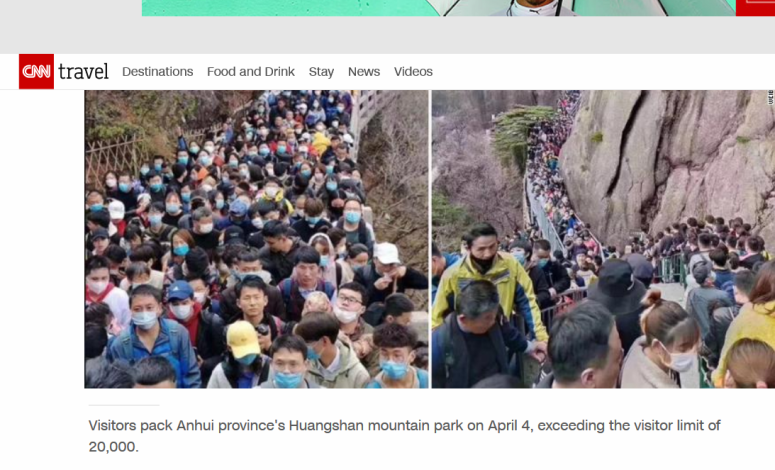 Screenshot_2020-04-06 Chinese tourist sites packed as country comes out of lockdown, but experts say risk still high